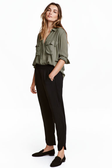 Pull-on trousers - Black - Ladies | H&M GB