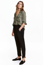 Pull-on trousers - Black - Ladies | H&M GB 1