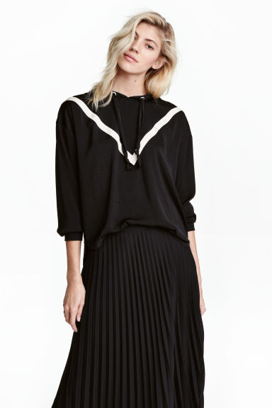 Hooded blouse - Black - Ladies | H&M 1