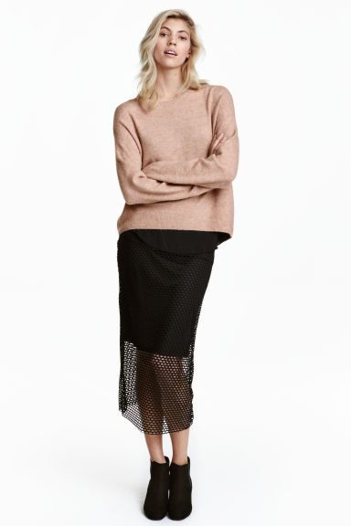 Mesh skirt - Black - Ladies | H&M 1