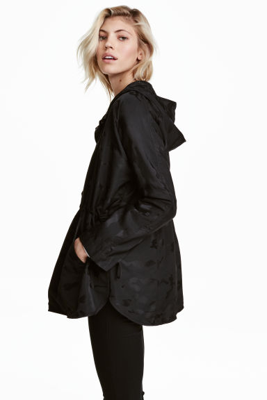 Lightweight jacket - Black/Patterned - Ladies | H&M 1