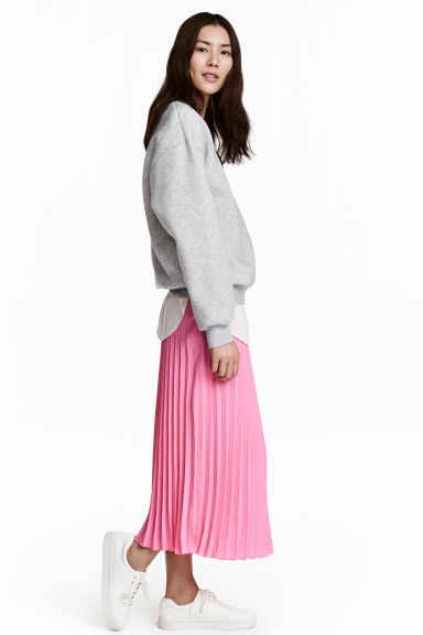 Pleated skirt - Pink - Ladies | H&M 1