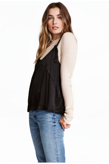 Vest top with ties - Black - Ladies | H&M