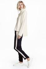Pull-on trousers - Dark blue/White - Ladies | H&M 1