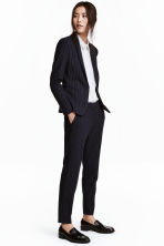 Suit trousers - Dark blue/Pinstriped - Ladies | H&M 1
