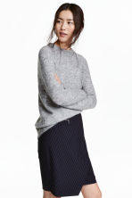 Knitted jumper - Grey marl - Ladies | H&M CN 1
