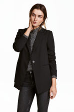 Long jacket - Black - Ladies | H&M GB 1