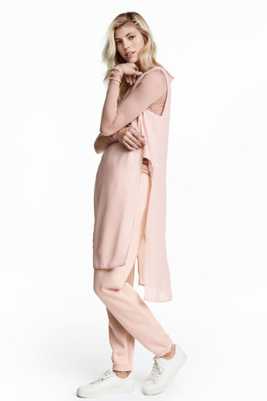 Crêpe tunic - Powder pink - Ladies | H&M CN 1
