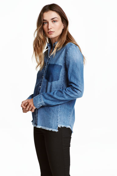 Denim shirt - Denim blue - Ladies | H&M CN