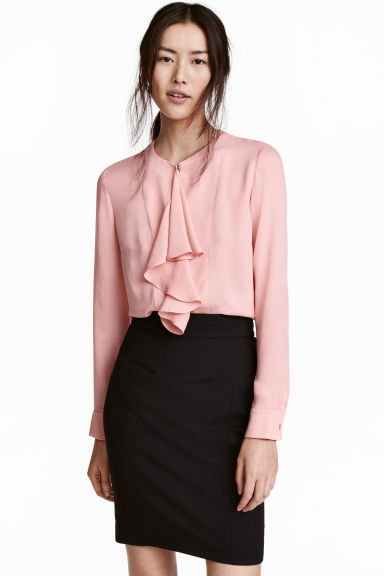 Ruffled blouse - Light pink - Ladies | H&M 1