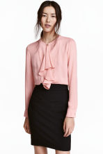 Ruffled blouse - Light pink - Ladies | H&M CN 1