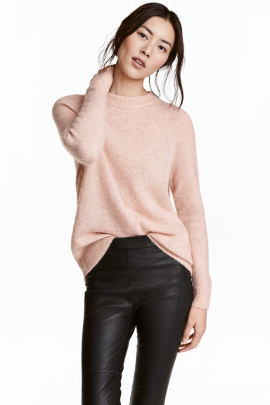 Knitted jumper - Powder marl - Ladies | H&M 1