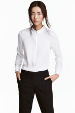 Long-sleeved blouse - White - Ladies | H&M 1
