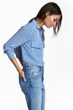 Camicia in viscosa - Blu/bianco righe - DONNA | H&M IT 1