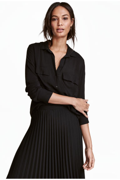Viscose shirt - Black - Ladies | H&M 1
