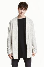 Fine-knit cardigan - Light grey marl - Men | H&M 1