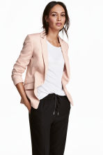 Single-button jersey jacket - Powder pink - Ladies | H&M 1