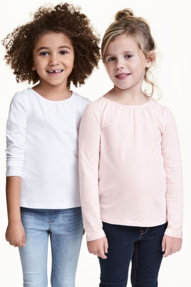 2-pack long-sleeved tops - White - Kids | H&M