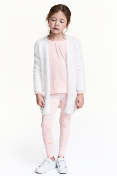 平紋內搭褲 - Light pink/Butterflies -  | H&M