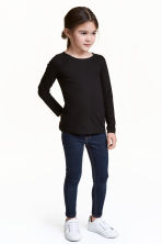 Superstretch denim leggings - Dark denim blue - Kids | H&M 1