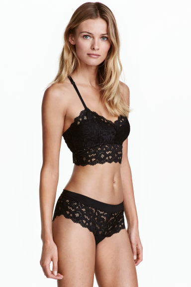 Lace hipster briefs - Black - Ladies | H&M