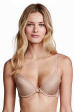 Padded microfibre bra - Toffee - Ladies | H&M CN 1