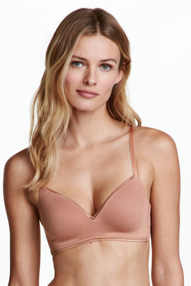 2-pack non-wired T-shirt bras - Caramel - Ladies | H&M 1