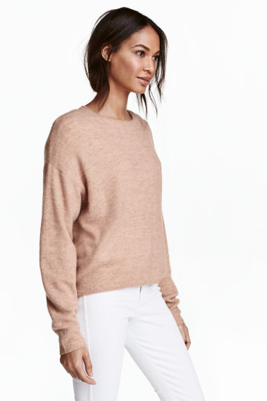 Oversized jumper - Beige marl - Ladies | H&M