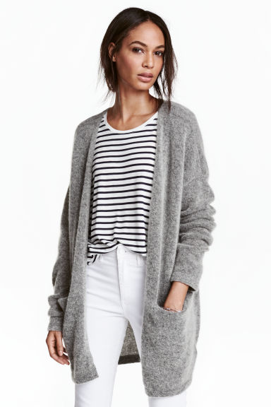 Cardigan in misto mohair - Grigio mélange -  | H&M IT 1