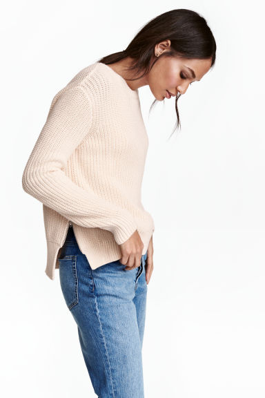 Knitted jumper - Powder - Ladies | H&M 1