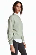 Knitted jumper - Light green marl - Ladies | H&M GB 1