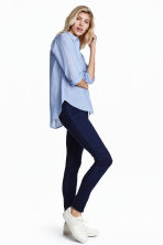 Superstretch-tregging - Donker denimblauw - DAMES | H&M NL 2