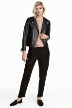 Satin trousers - Black -  | H&M 1