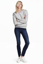 Superstretchbroek - High waist - Donker denimblauw/wassing - DAMES | H&M NL 2