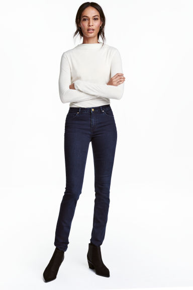 Pantaloni super-stretch - Blu denim scuro - DONNA | H&M IT 1