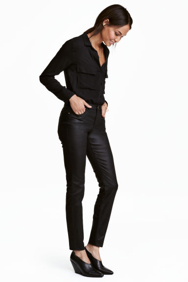 Superstretch trousers - Black/Coated - Ladies | H&M CN 1