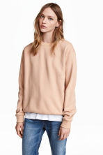 Sweatshirt - Light beige - Ladies | H&M 1