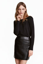 Boat-neck top - Black - Ladies | H&M 1