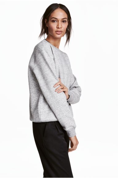 Sweatshirt - Light grey marl - Ladies | H&M GB 1