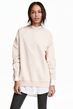 Sweatshirt with raglan sleeves - Powder - Ladies | H&M GB 1