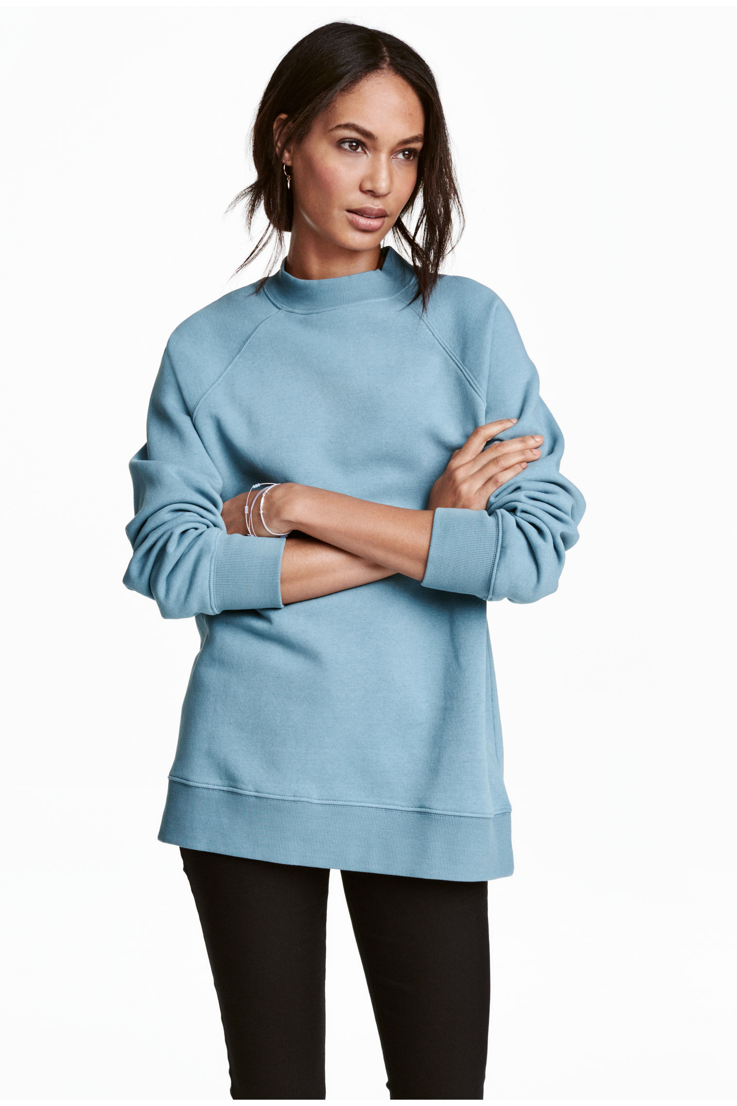 Sweatshirt with raglan sleeves - Turquoise - | H&M GB