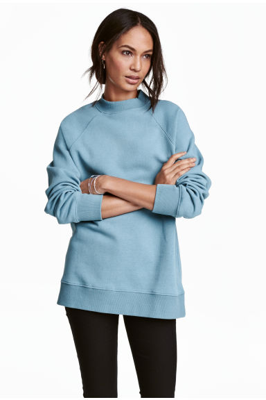 Sweatshirt with raglan sleeves - Turquoise -  | H&M