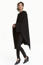 Fine-knit poncho - Black - Ladies | H&M 1