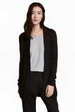 Knitted cardigan - Black - Ladies | H&M 1