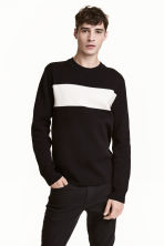 Fine-knit jumper - Black - Men | H&M 1
