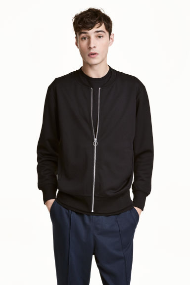Jersey bomber jacket - Black - Men | H&M 1