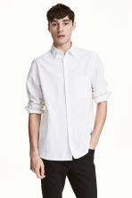 Linen-blend shirt Relaxed fit - White - Men | H&M CN 1