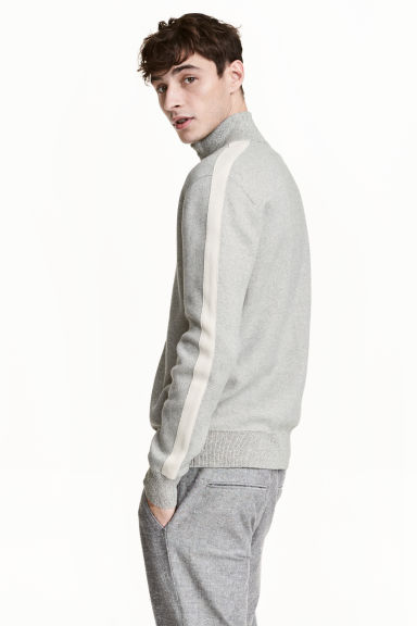 Cotton cardigan - Grey marl - Men | H&M CN 1