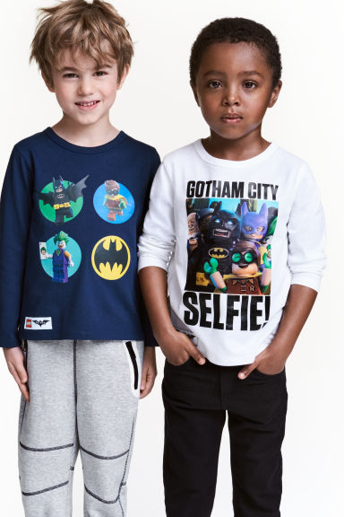 2-pack long-sleeved T-shirts - Dark blue/Lego -  | H&M 1