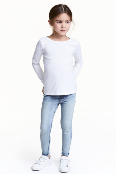 Leggings in denim superstretch - Blu denim chiaro - BAMBINO | H&M IT 1